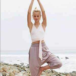 Free People Movement Wrap Exercise Top Blush Pink